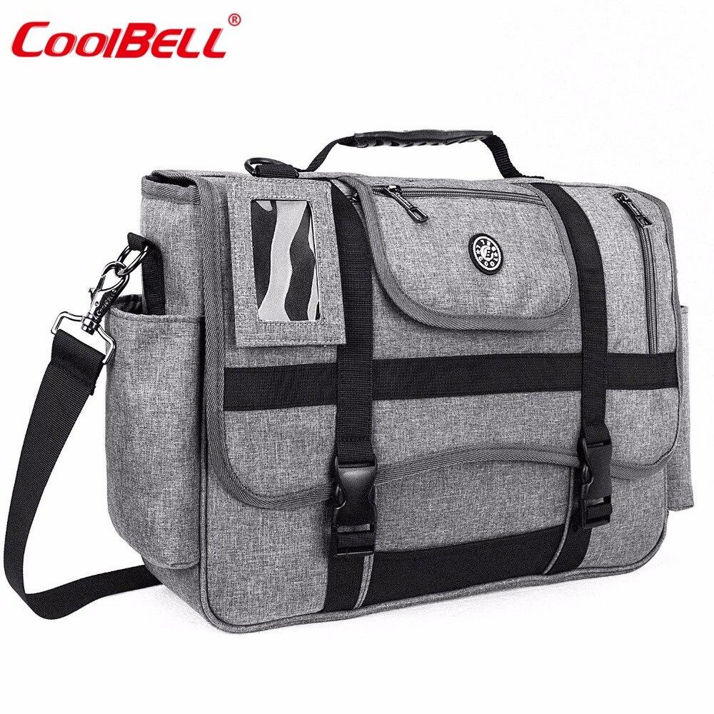 CoolBELL Messenger Bag 15.6 Inch Laptop Shoulder bag Sport Handbag Casual Briefcase Multi-functional Travel Bag For Men / Women цена