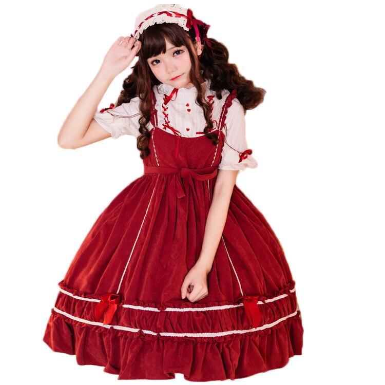 Robe Lolita fille japonaise printemps et été rétro avec robe taille haute