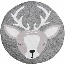 Christmas Deer Rug Baby Blanket Play Game Mats Round Cartoon Crawl Blanket Carpet Cotton Children Toy Crawling Rug Indoor Mat 2017 hot sale fashion baby blanket game mat bear blanket baby tiger blanket animal carpet warm bear play mats autumn winter