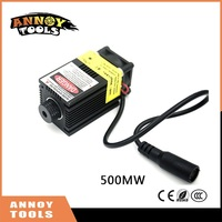500mW 405NM Adjustable Focus Blue Purple Light Laser Module Accessory 12V High Power Laser Head For