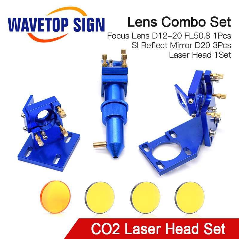 WaveTopSign CO2 Laser Head Set For 2030 4060 K40 Laser Engraving Cutting Machine