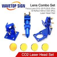WaveTopSign CO2 Laser Head Set voor 2030 4060 K40 Lasergravure Snijmachine