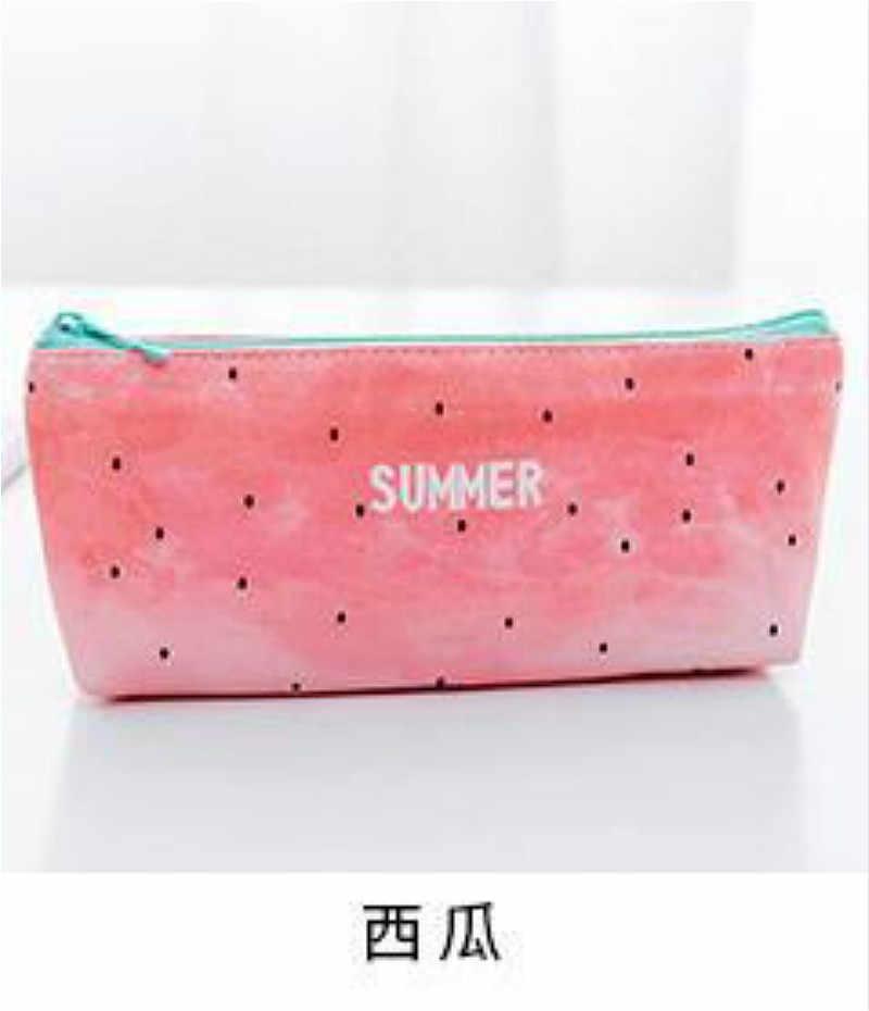 1 pçs/vender breve kawaii planta lápis caso bonito melancia padrão material escolar papelaria presente caixa de lápis saco