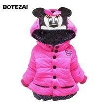 Новый 2015 baby дети пальто для детей, дети верхняя одежда и пальто, девушки зима Минни пальто, детские куртки, повседневная детская одежда