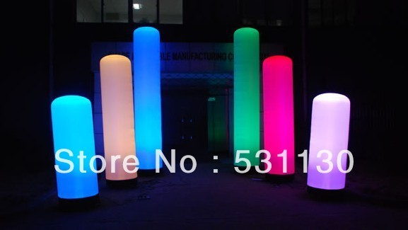 party decoration inflatable pillar with LED light(Height3m)