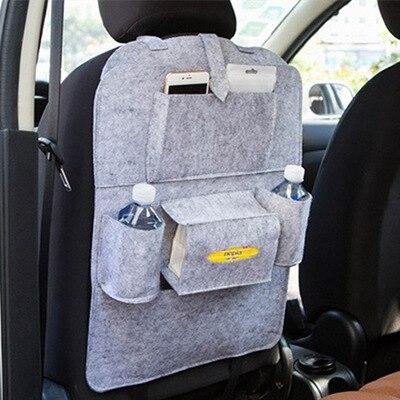 Новинка, Универсальный 1 шт. автомобильный защитный чехол на заднюю часть сиденья автомобиля, детский коврик, сумка для хранения, аксессуары для автомобиля - Цвет: light gray