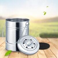 Anho acero inoxidable puede desodorante mini con tapa handlift escritorio basura de la cocina cubo