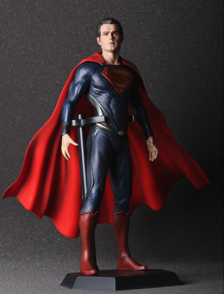High Quality!!! Crazy Toys Superman Man of Steel PVC Action Figure Collectible Model Toy 12 30CM Free Shipping KB0386 free shipping misaki kurehito pvc action figure toys sexy native cat lap milkc83 high quality model doll toy