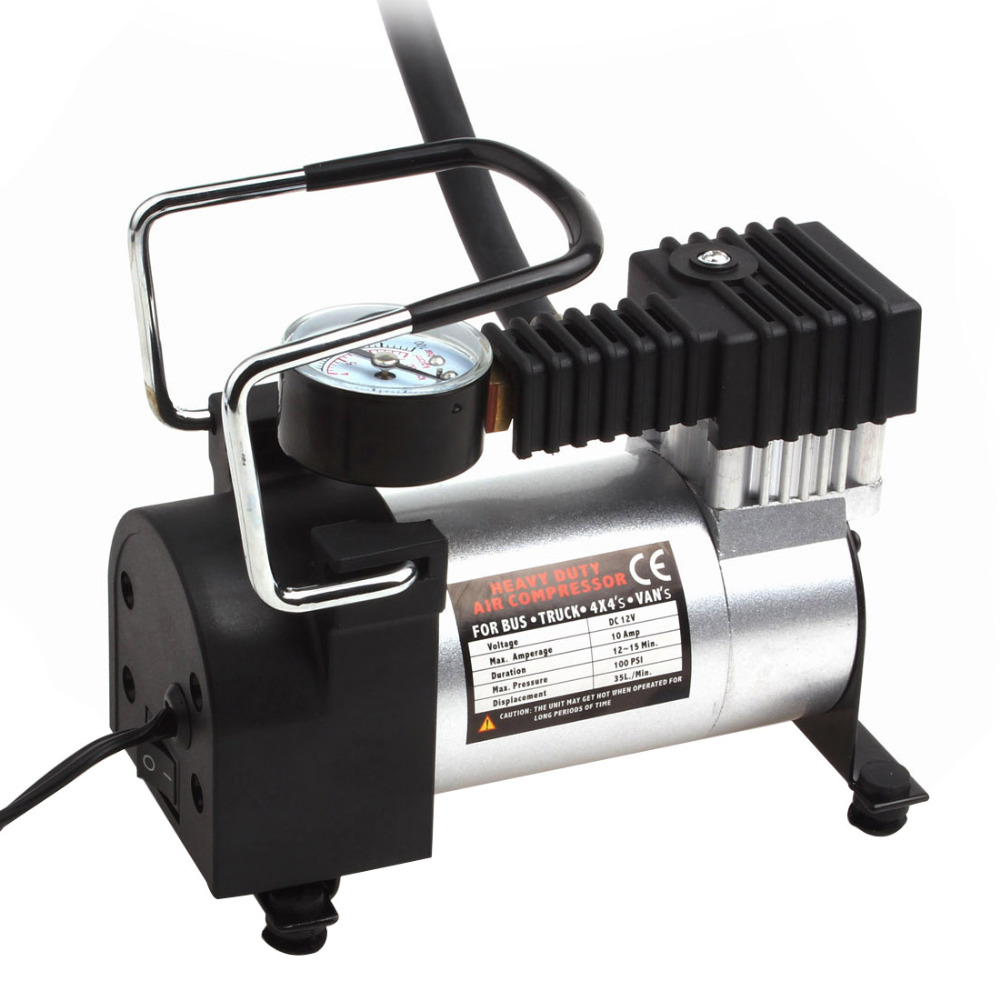 Portable Car Air Compressor Heavy Duty 12V 140PSI 965kPA Electric Tire Tyre Inflator Pump for for