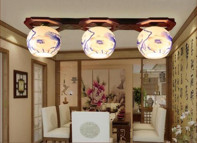 Neue Klassischen Chinesischen Keramik Bambus E27 Deckenleuchten 3