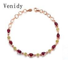 Venidy Peridot Sterling-Silver-Jewelry Bracelet Garnet Pulseras Mujer Pearl Jewelry Bracelets for Women Topaz Turquoise Joyas
