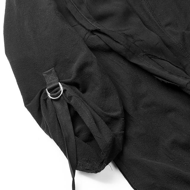 Dark Cloak Coat Personality Cloak Nightclub Coat Male Tide Gothic Fake Two Pieces Over Knee Robes Men Long Coat Gothic Jacket
