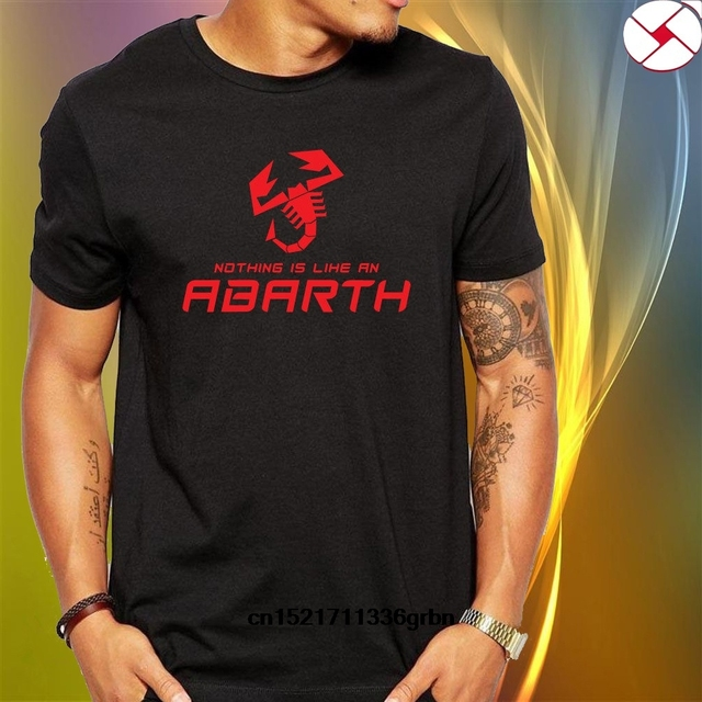 Men T shirt Nothing Like an Abarth Classic Black funny t-shirt novelty tshirt women