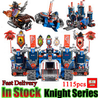 Future Nexo Knight LEPING 14006 1115 Pcs Castle Warrior Battle Building Blocks Set Minis Compatible With