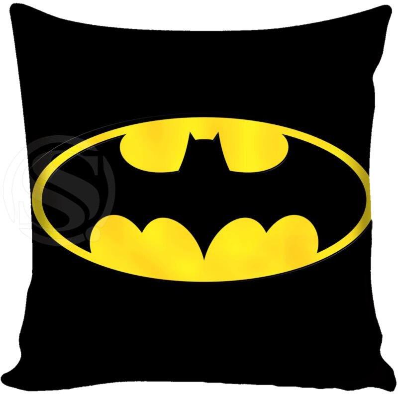 G0309 HOT Batman Logo Pillowcase Style Throw Pillow Case Custom Home Best Hot Sale 40x40cm