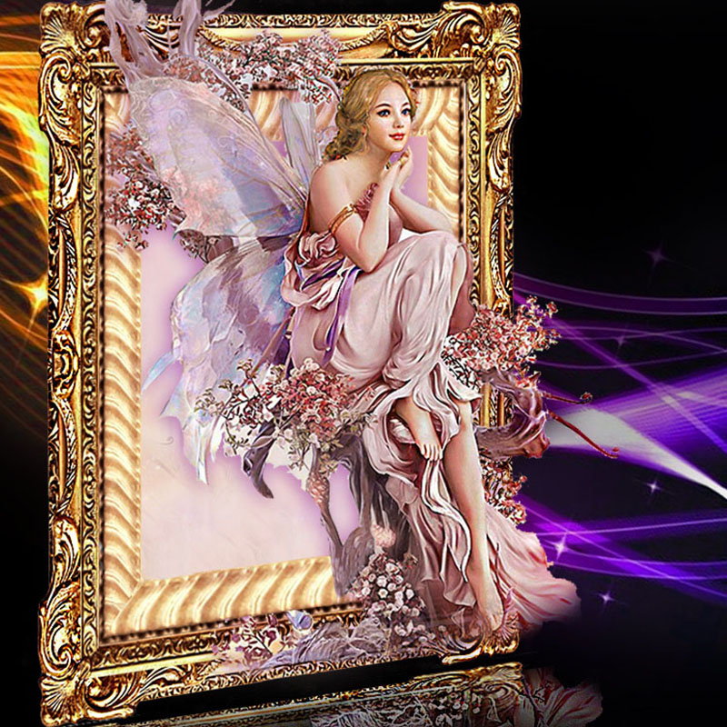 CNA Nou 5D DIY Pictură de diamante Butterfly Fairy Mozaic Cristal Rotund stras Portret Broderie Decor frumusete Cross Stitch