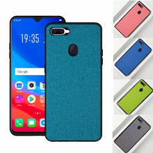 For OPPO A7 2018 Case A7X back cover Luxury Soft Silicone fabric Cloth Protective Shockproof Cove FOR A 7 X Capa