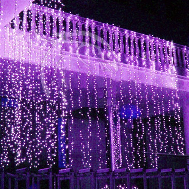 10M X 3M LED Twinkle Lighting 1000LED Christmas String Fairy Wedding Curtain Background Outdoor Party Christmas Lights 110V 220V