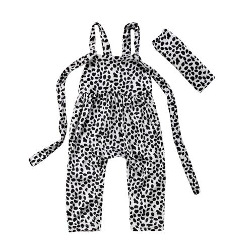 2Pcs Newborn Kids Baby Boys Girl Milk Cows Print Romper Jumpsuit Toddler Girls Boy Summer Backless Rompers Summer Costume Set