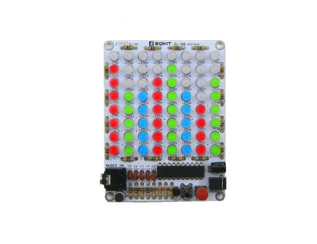 DIYชุด8*8 LEDเพลงเสียงสเปกตรัมตัวบ่งชี้คณะกรรมการเครื่องขยายเสียงการควบคุมเสียงแสดงระดับVU Meterด้วยกรณี