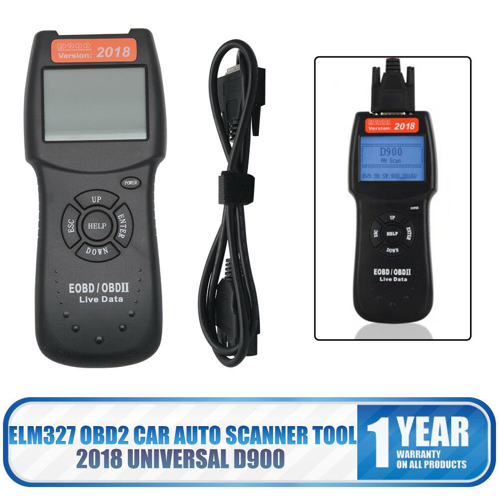 D900 2018 Universal OBD2 EOBD CAN Car Engine Fault Code Reader Diagnostic Tool