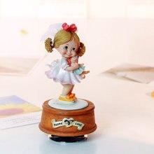 Girl 2016 rotating music box music box birthday wedding and Christmas gift little girl girlfriend gifts free shipping