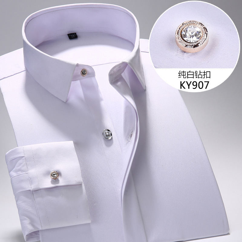 Μακρυμάνικο πουκάμισο ατόμων Slim Fit 2018 - Ανδρικός ρουχισμός - Φωτογραφία 2