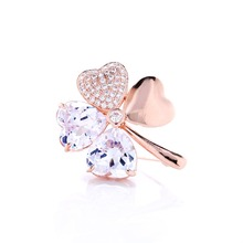 Promotion Hot Sales Factory Wholesales Austrian Crystal Four Leaf Clover Brooch Women Wedding Accessories Fashion Jewelry#WX8013