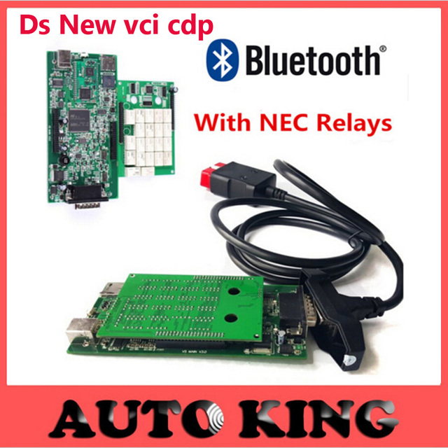New VCI 5pcs/lot CDP PRO NEC relays bluetooth TCS CDP PRO Diagnostic scanner Tool CDP 2015.1 With Bluetooth for CAR TRUCK DHL