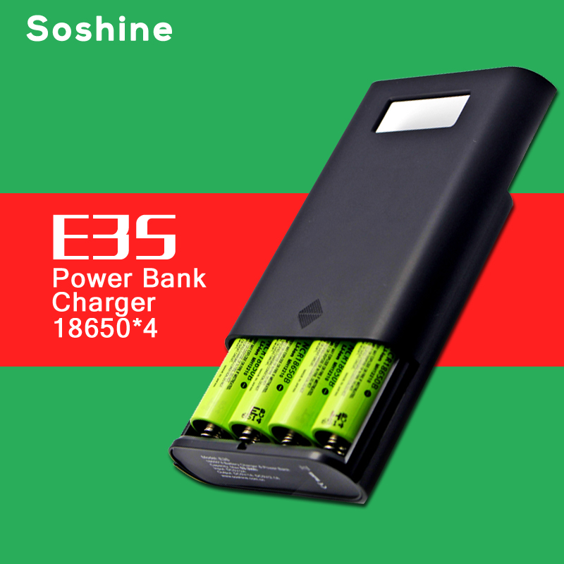 ELEGEEK E3S Authentic Original Portable Power Bank and Battery Charger with Dual USB and LCD Display for 18650 Battery