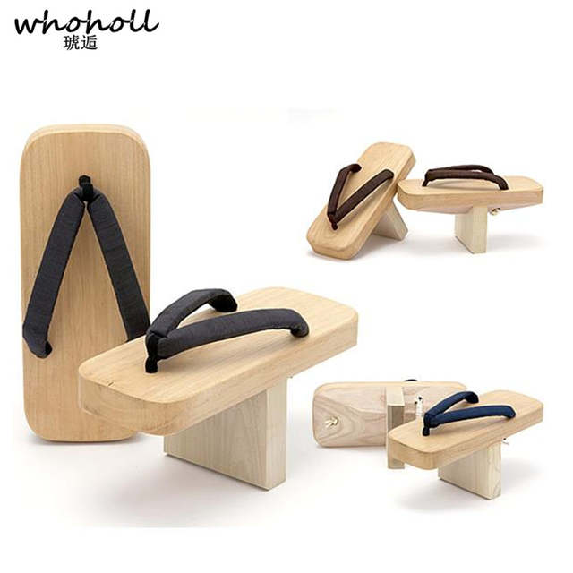 WHOHOLL Japanese Wooden Clogs Cosplay