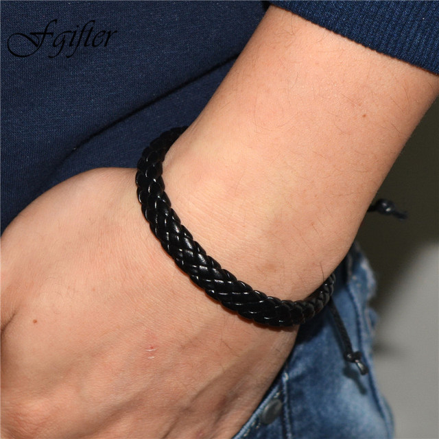 Rock Male Bracelets Men Hand Bracelet Jewelry 20cm Adjustable Handmade Size Wrap