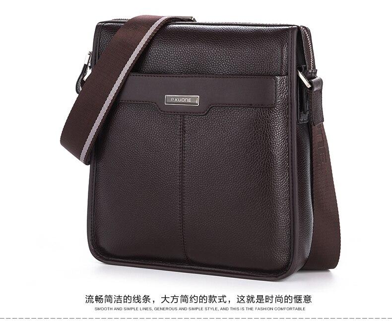 Nouveau hommes porte-documents en cuir de vachette naturel porte-documents pour hommes marque Designer en cuir véritable hommes sacs à main en cuir d'affaires hommes sac - 4