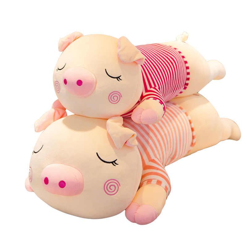60-100 centimetri Grande Grande Grande Piggy Maiale Farcito Peluche Bambola Giocattolo Animale Regalo Di Compleanno Cuscino A Pelo Maiale in camicia Cuscino Bambole Ragazze