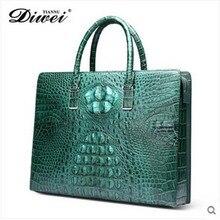 diwei male crocodile male rare leather bag bag business briefcase male computer bag authentic men's bags