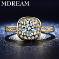 2016 wholesale yellow gold plated rings for women wedding ring romantic noble jewelry Size 6 7 8 9 LSR191 MDREAM