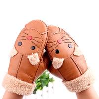 Valpeak Gloves Mittens Winter Women Cat Gloves Female Warm Mittens Suede Thick Gloves Adult Apparel Accessories
