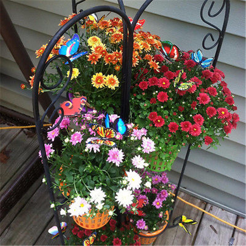Set of 24 butterfly skate garden decoration outdoor art for Garden decking ornaments