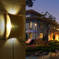 Waterproof Modern Home Lighting Wall Sconce 4 1W Aluminum Led Wall Light Up Down Bedside Reading