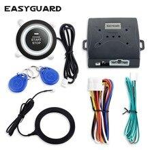EASYGUARD RFID car alarm system with push button start & Transponder Immobilizer engine lock or unlock DC12V