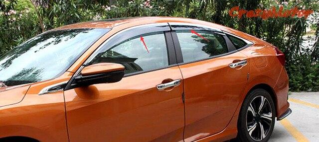 Для Honda Civic седан 4dr 10th Gen 2016 2017 окно козырек вентиляционные оттенок / вс / ветер гвардии
