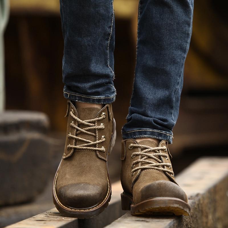 Aliexpress.com : Buy Aleader Waterproof Men Suede Leather Cowboy ...