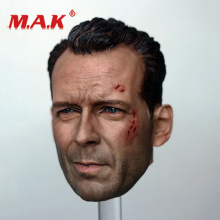 цена на New 1:6 Scale Die Hard - John Mcclane Bruce Willis Battle Damage Head Model fit 12