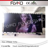 Media sexy display P50mm led wall hot led video curtain 2x5m flexible soft lights cloth with PC controller