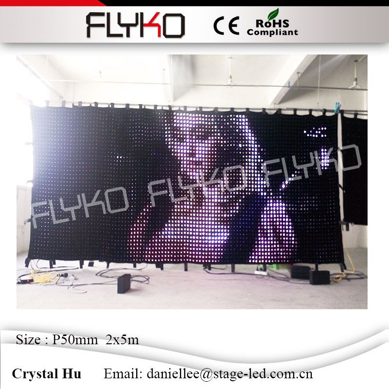 Media Sexy Display P50mm Led Wall Hot Led Video Curtain 2x5m Flexible Soft Lights Cloth With Pc Controller In Stage Lighting Effect From Lights Lighting