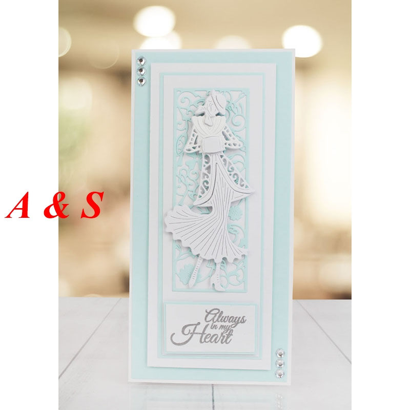 M61 Beautiful Woman Designs Metal Cutting Dies Stencils Scrapbooking/Photo Album DIY Embossing Decorative Accessories