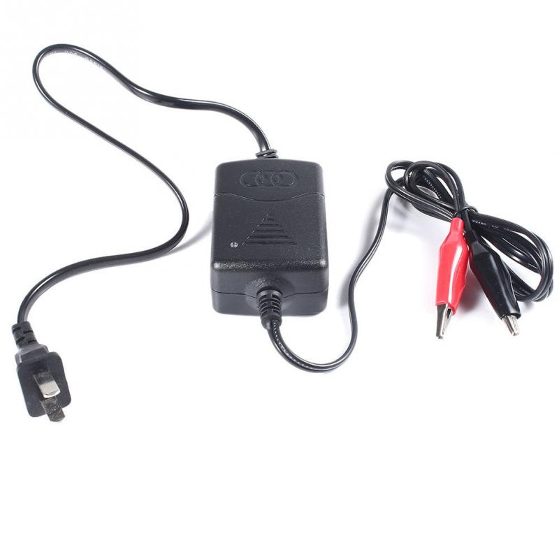 Black 12V Lead-acid Battery Trickle Charger Full Automatic Car/Van/Motorcycle Intelligent Battery Charger new 220v input 30a 12v car battery charger motorcycle charger 12v lead acid charger eu plug wholesale
