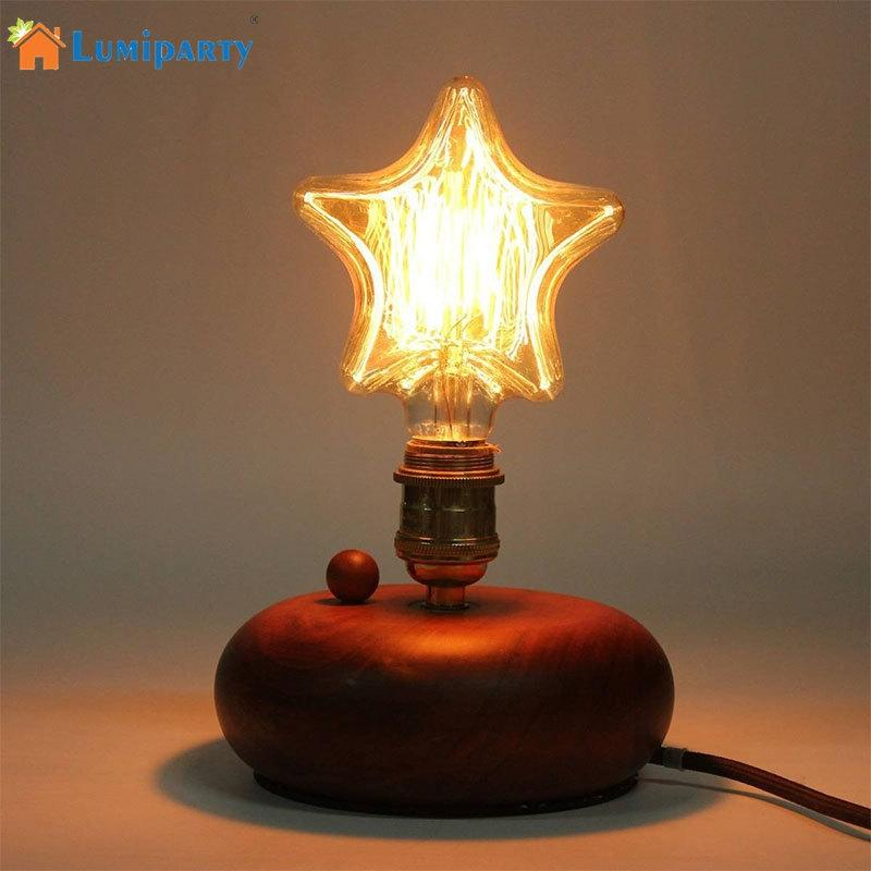 LumiParty Unique and Fashion Star Heart Shape Retro Tungsten Lamp Light Bulb for Christmas Party Decoration jk30