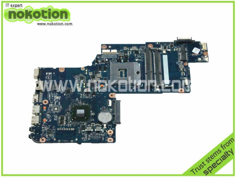 цена NOKOTION H000043520 Laptop motherboard For Toshiba Satellite C875 L870 L875 Intel DDR3 17.3 Inch Screen Mainboard
