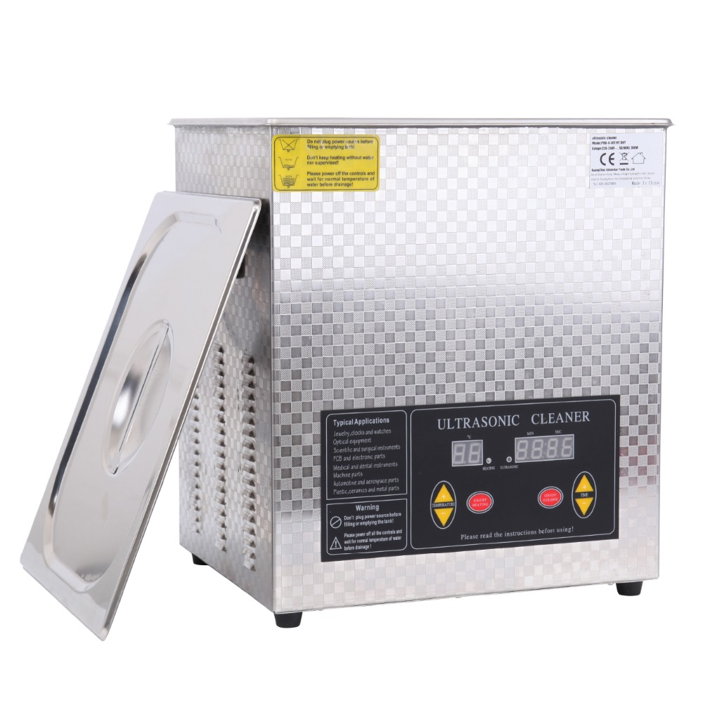 (Ship from USA) 15L Ultrasonic Stainless Steel Cleaner Heater Timer Cleaning Tank 7l stainless steel ultrasonic cleaner with timer and heater including washing basket